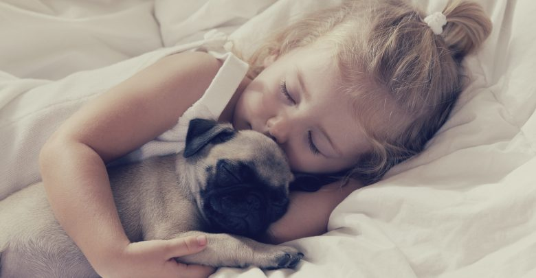 sleeping with dog